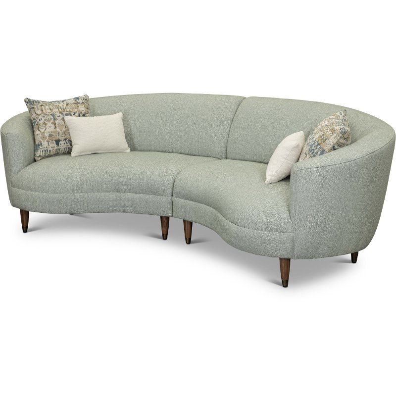 Curved Conversation Sectional Sofa Are Leather With Regard To 2018 French Seamed Sectional Sofas Oblong Mustard (View 8 of 25)