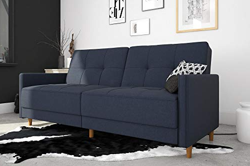 Dhp Andora Coil Futon Sofa Bed Couch With Mid Century With Well Known Debbie Coil Sectional Futon Sofas (View 22 of 25)