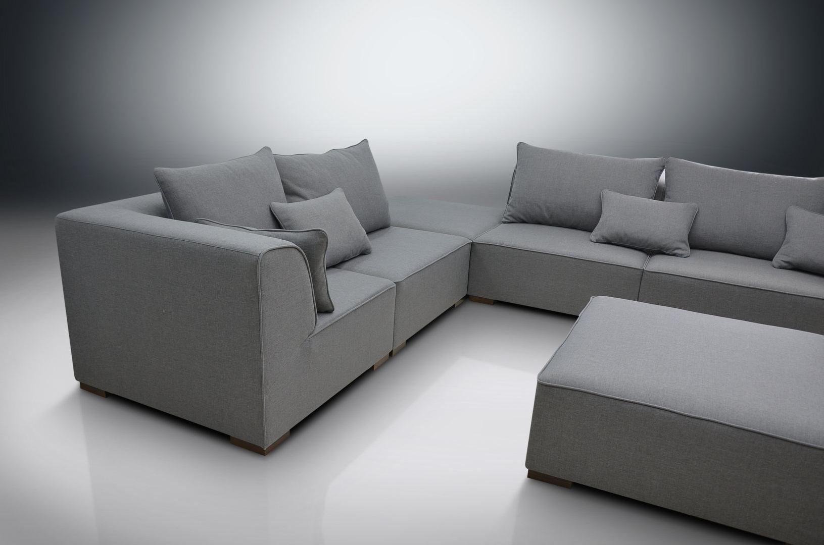 Dream Navy 2 Piece Modular Sofas Inside 2018 Modular Sofa Primo, 2Xcorners, 3Xchairs, 2Xfootstools (View 9 of 15)