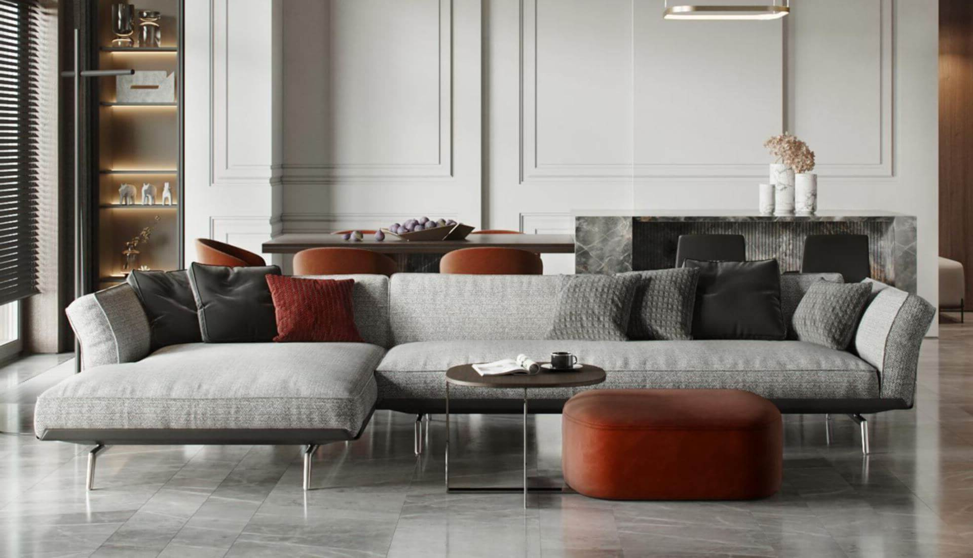 Dream Navy 3 Piece Modular Sofas For Famous Flexform Este Modular Sofa – Dream Design Interiors Ltd (View 15 of 15)