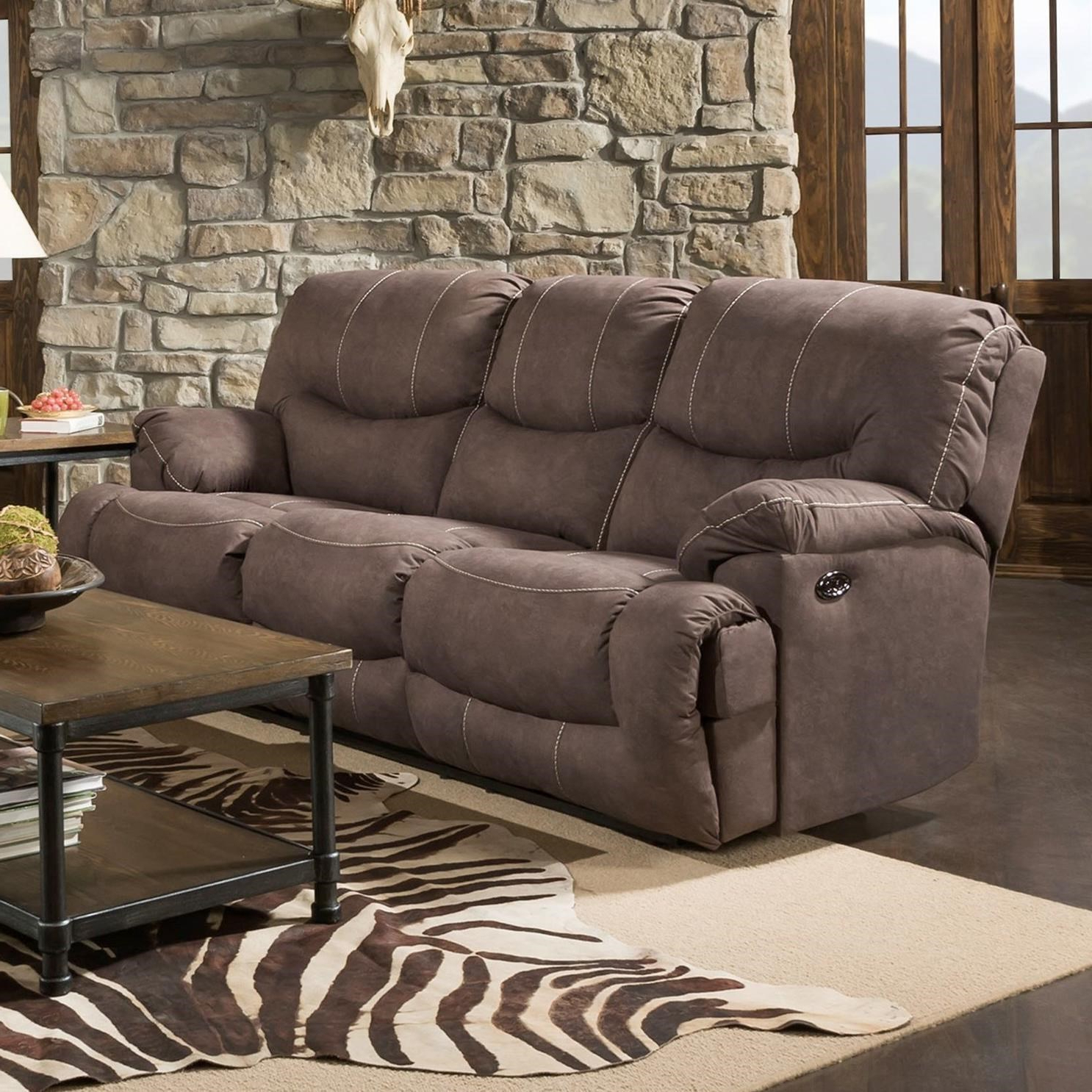 Dual Power Reclining Sofas With Regard To Best And Newest United Furniture Industries 50455Br Casual Double Power (View 2 of 7)