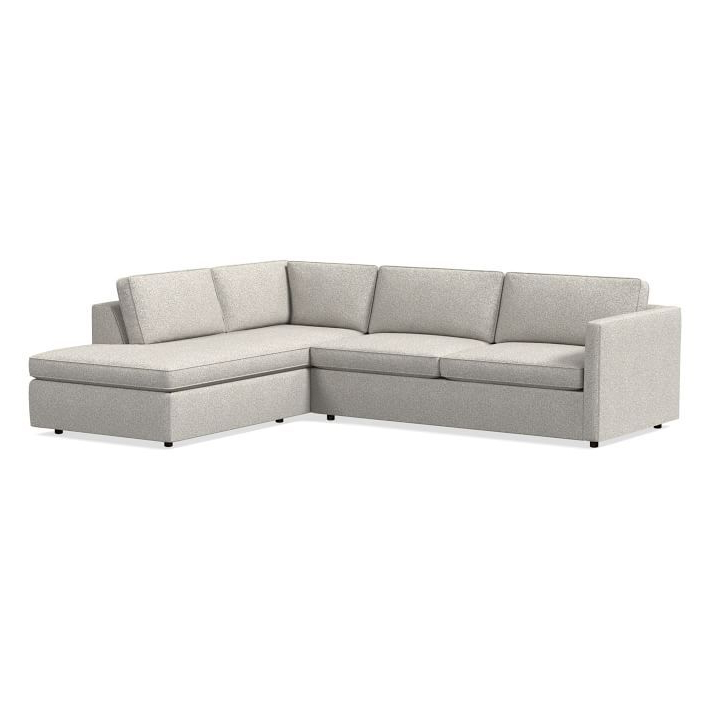 """Dulce Right Sectional Sofas Twill Stone Intended For Well Known Harris Sectional Set 11: Left Arm 75"""" Sofa, Right Arm (View 2 of 25)"""