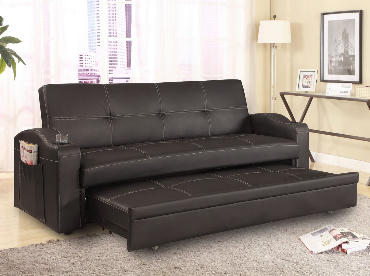 Easton Small Space Sectional Futon Sofas Pertaining To Most Recent Easton Adjustable Sofa Bed Crown Mark Furniture (View 6 of 25)