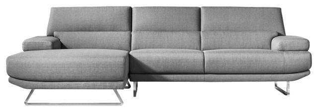 Element Right Side Chaise Sectional Sofas In Dark Gray Linen And Walnut Legs Intended For Famous Jenn Sectional, Dark Gray – Contemporary – Sectional Sofas (View 17 of 25)