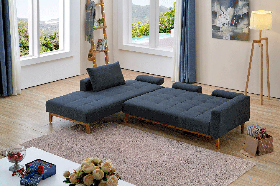Element Right Side Chaise Sectional Sofas In Dark Gray Linen And Walnut Legs Pertaining To 2018 1 Contemporary Furniture ® – Designer Furniture Nationwide (View 24 of 25)