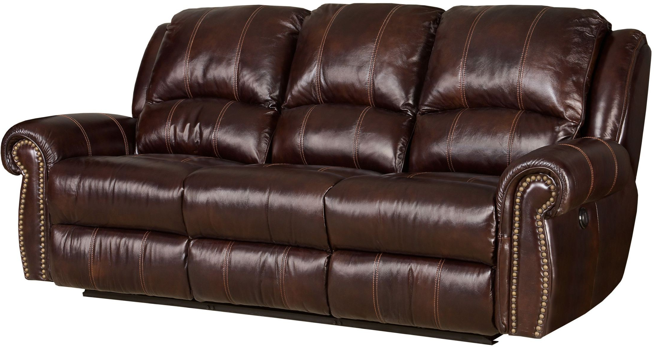 Expedition Brown Power Reclining Sofas Pertaining To Well Liked Jackson Brown Power Leather Reclining Sofa From Hooker (View 5 of 15)
