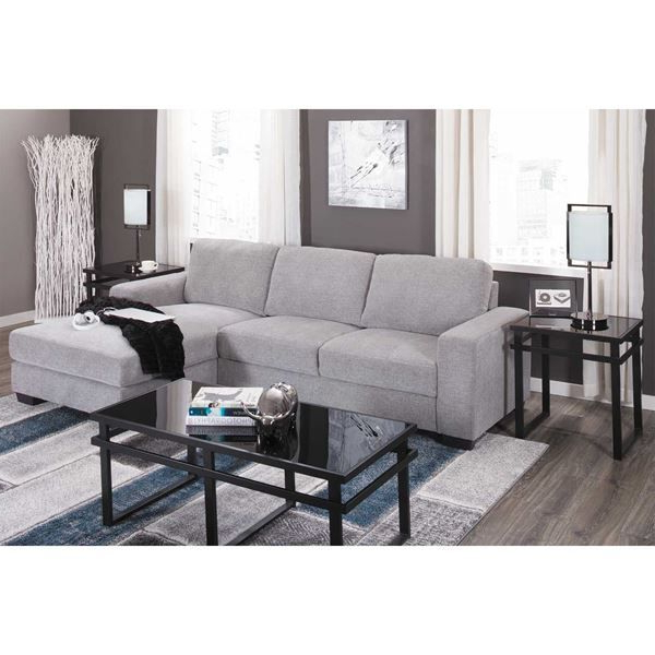 Famous 2Pc Crowningshield Contemporary Chaise Sofas Light Gray Throughout Charleston Light Gray 2 Piece Sectional In  (View 5 of 25)