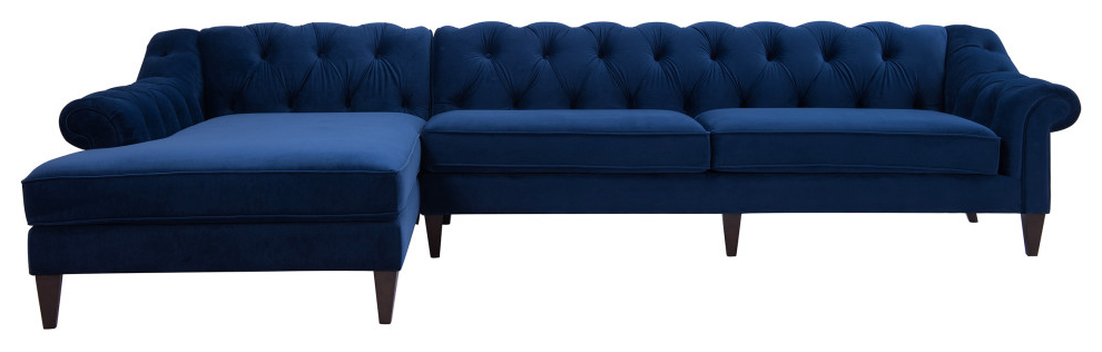Famous Alexandra Chesterfield Tufted Right Facing Sectional Sofa Within Element Right Side Chaise Sectional Sofas In Dark Gray Linen And Walnut Legs (View 15 of 25)