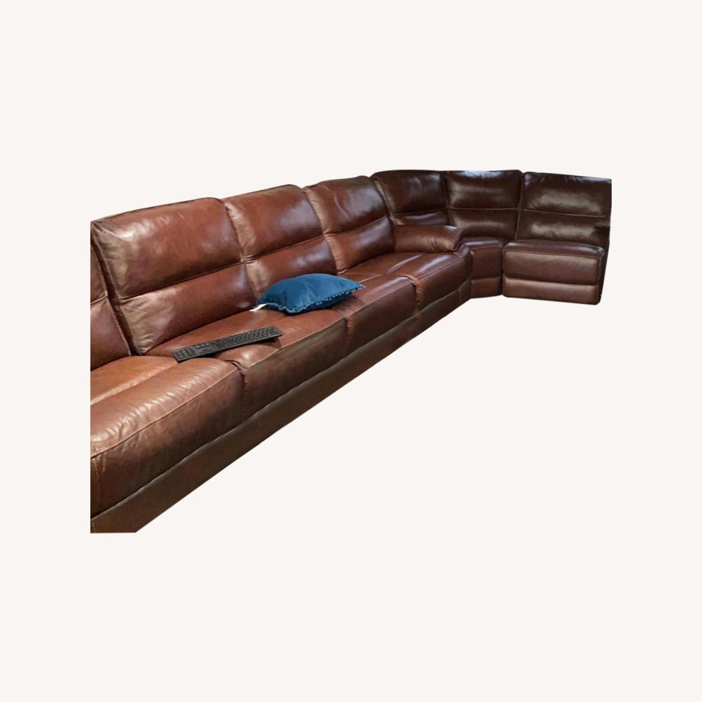 Famous Bobs Furniture Leather Sofa : Trailblazer Gray Leather With Regard To Trailblazer Gray Leather Power Reclining Sofas (View 6 of 15)