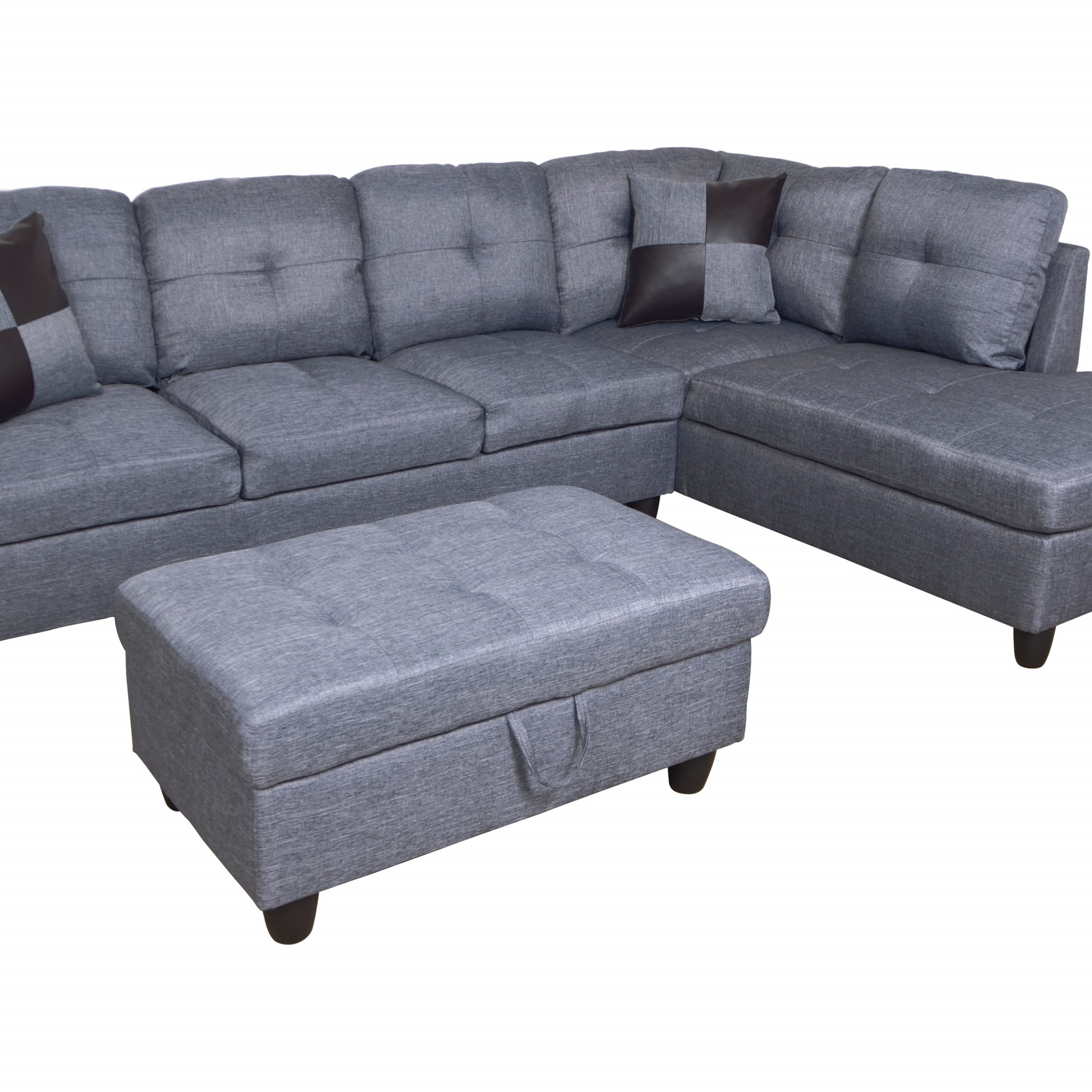 Famous Hermann Left Chaise Sectional Sofa With Storage Ottoman For Celine Sectional Futon Sofas With Storage Reclining Couch (View 7 of 25)