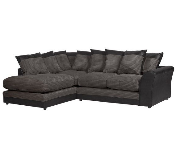 Famous Katie Charcoal Sofas Inside Buy Home Harley Large Fabric Right Hand Corner Sofa (View 10 of 15)