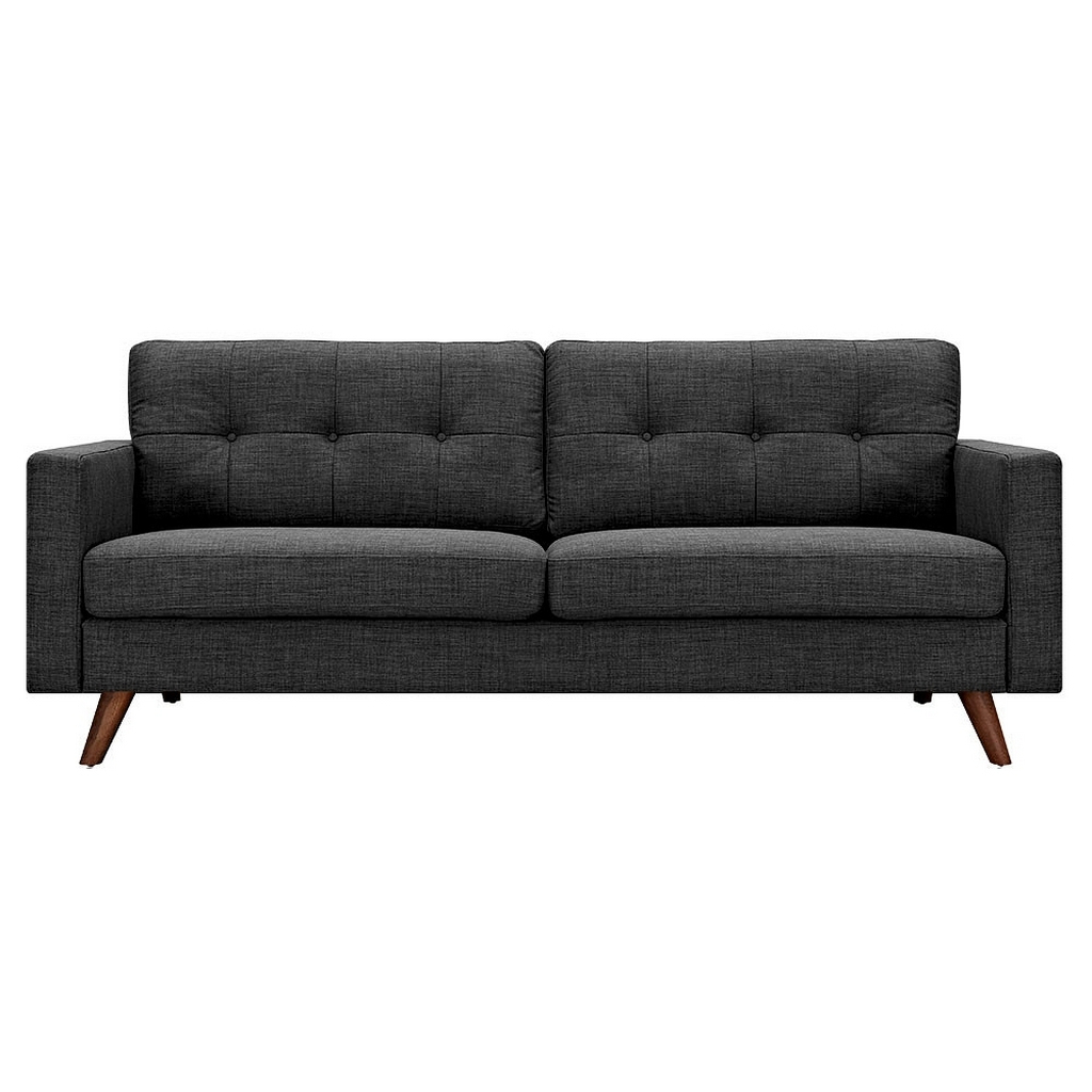 Famous Ludovic Contemporary Sofas Light Gray Intended For Dioli Sofa  Charcoal Gray/ Walnut (View 21 of 25)