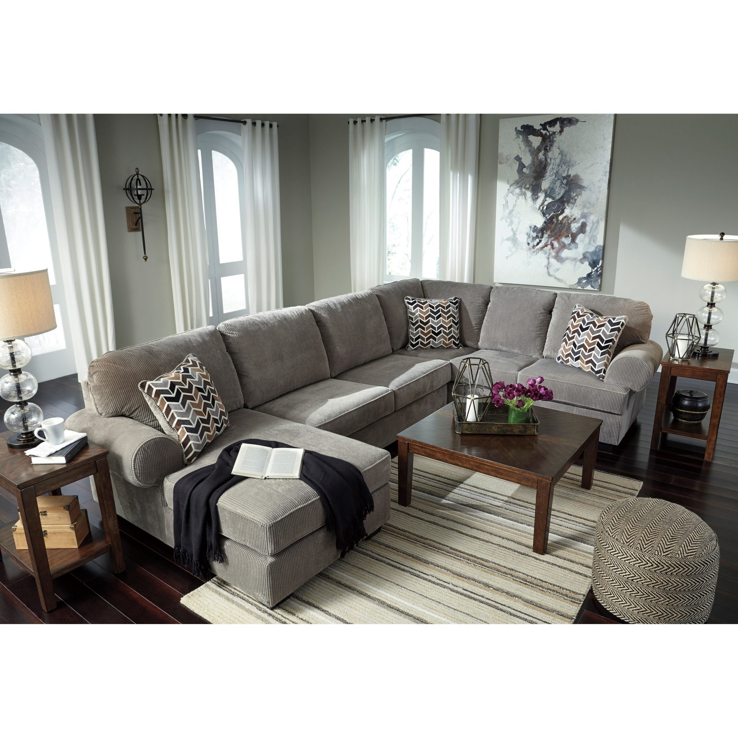 Famous Signature Designashley Jinllingsly Contemporary 3 Pertaining To 3Pc Polyfiber Sectional Sofas (View 4 of 25)