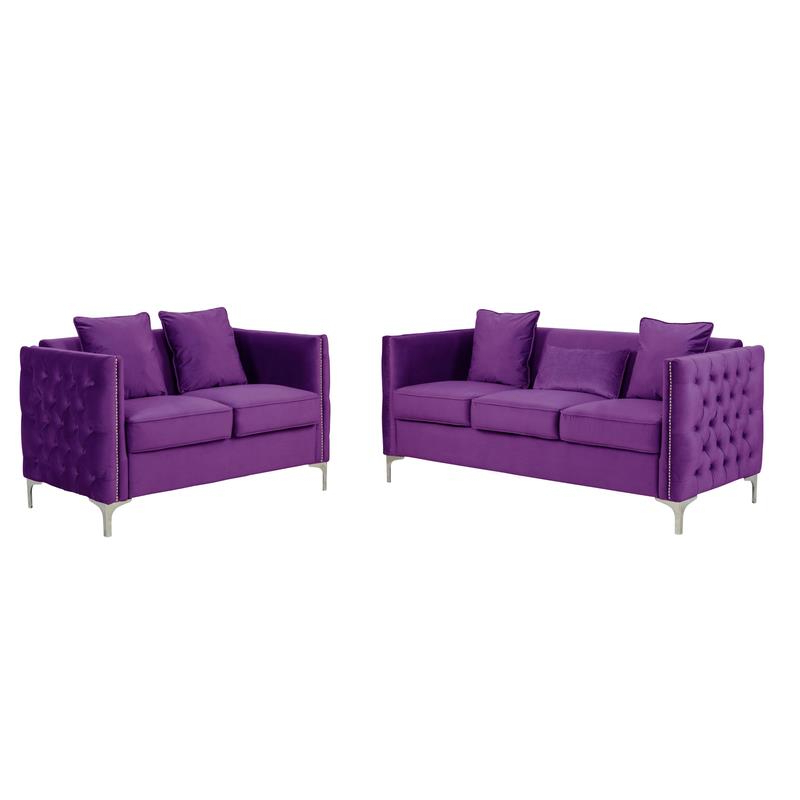 Fashionable 2Pc Maddox Left Arm Facing Sectional Sofas With Cuddler Brown Regarding Living Room Sets: Sofa Sets With Couch And Loveseat (View 4 of 20)