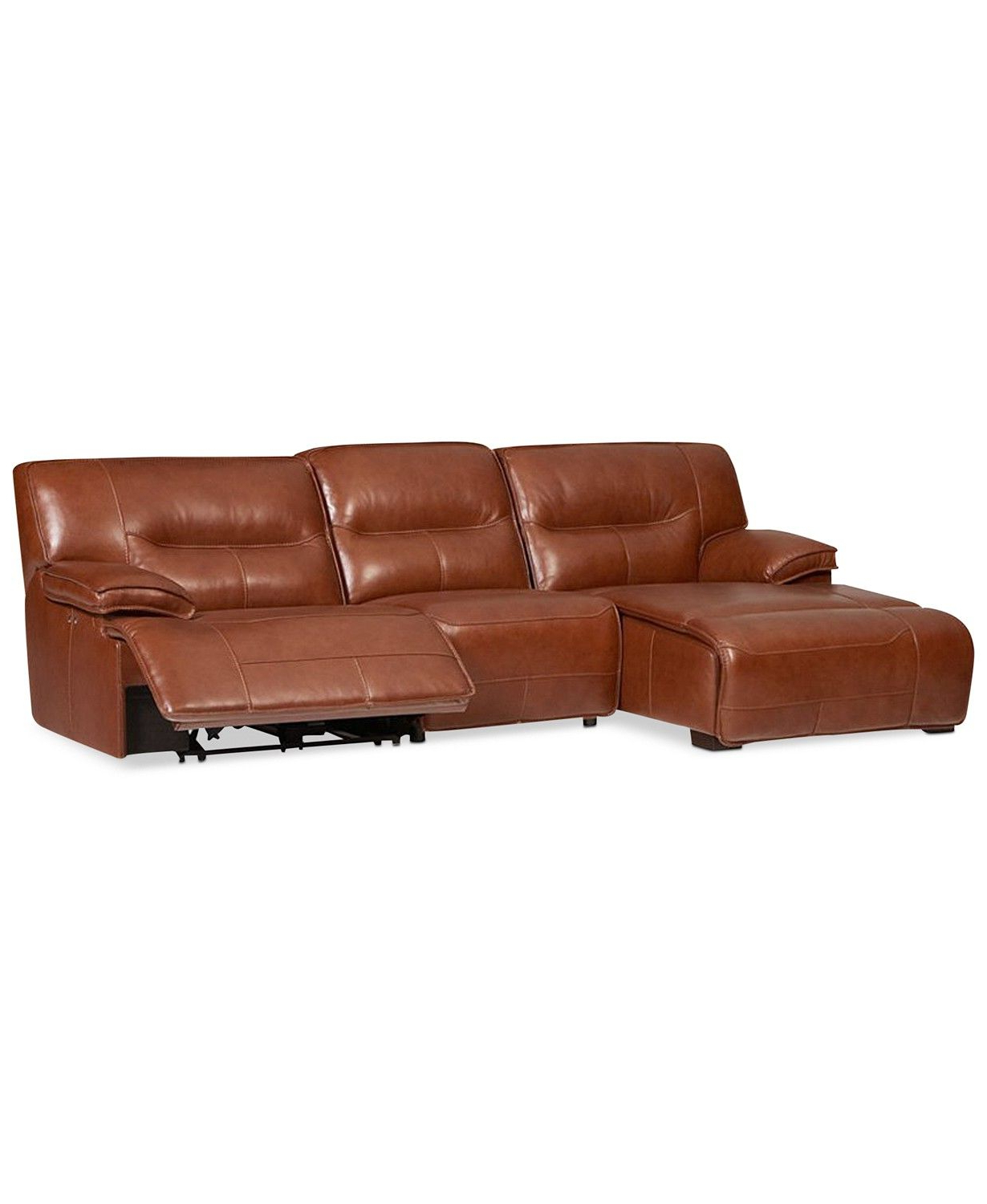 Fashionable 3Pc Miles Leather Sectional Sofas With Chaise Throughout Furniture Beckett 3 Pc Leather Sectional Sofa With Chaise (View 21 of 25)