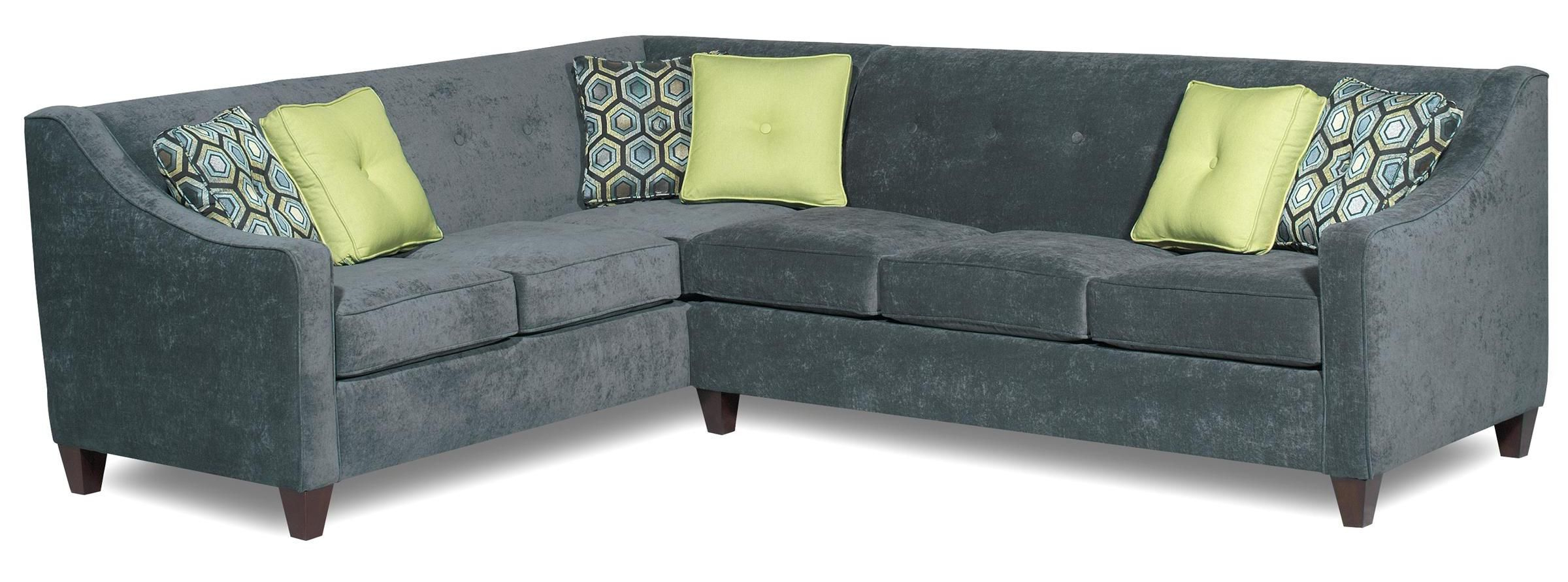 Fashionable 706951 Contemporary 2 Piece Sectional With Sloped Track Regarding Lyvia Pillowback Sofa Sectional Sofas (View 20 of 25)