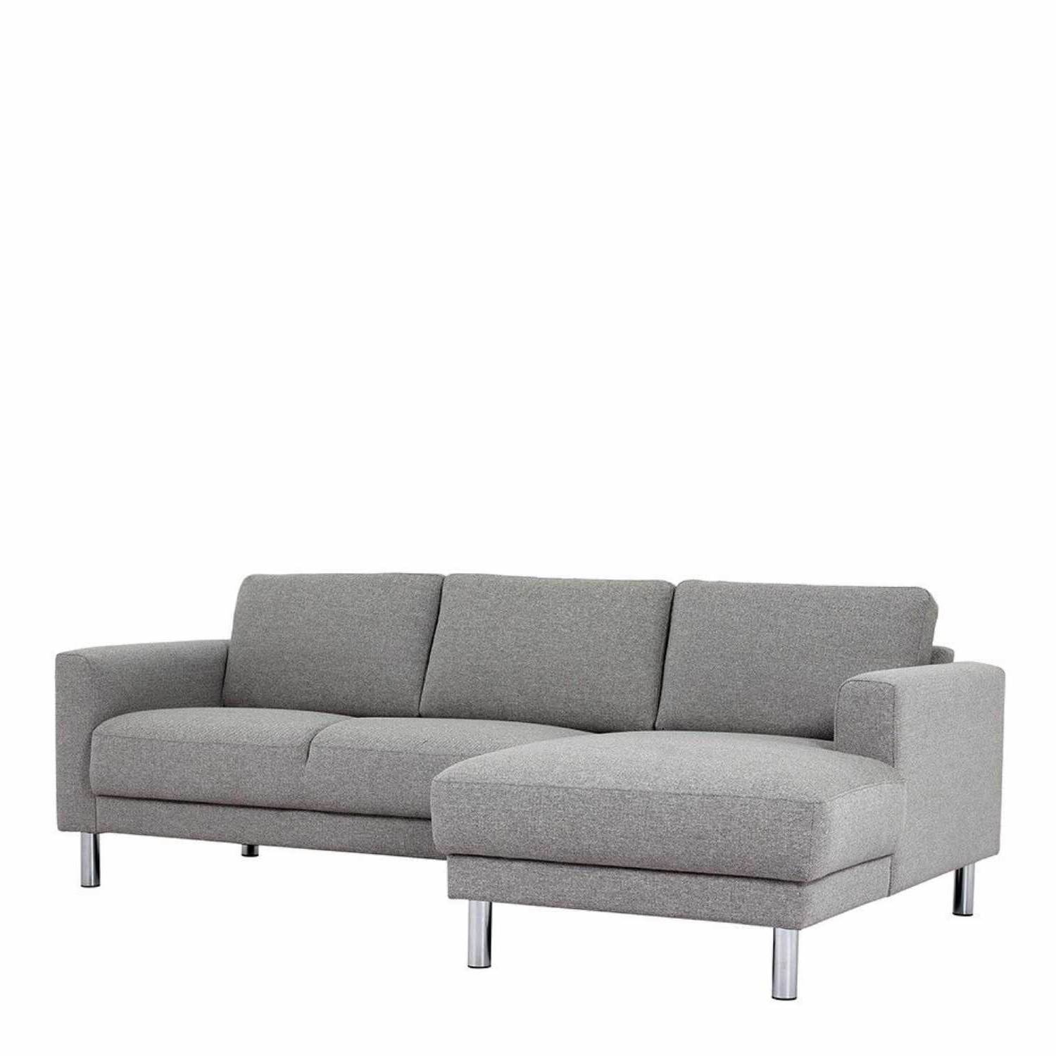 Fashionable Contemporary Nova Light Grey Fabric Left Hand Corner Within 2Pc Crowningshield Contemporary Chaise Sofas Light Gray (View 20 of 25)