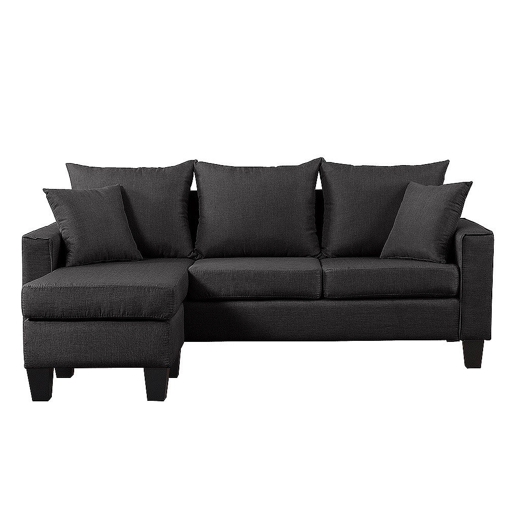 Fashionable Dulce Mid Century Chaise Sofas Dark Blue With Modern Mid Century Dark Grey Sofa Small Space Sectional (View 1 of 25)
