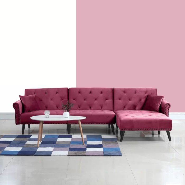 Fashionable Florence Mid Century Modern Velvet Left Sectional Sofas Within Salcombe Left Hand Facing Sectional (View 14 of 25)