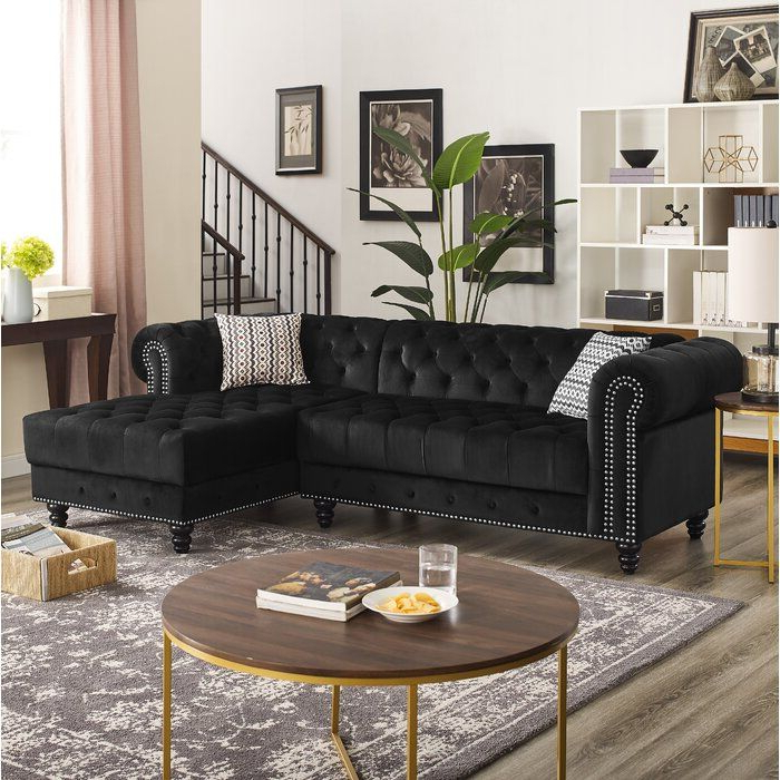 """Fashionable House Of Hampton Lora 97"""" Right Hand Facing Sectional Regarding Kiefer Right Facing Sectional Sofas (View 6 of 25)"""