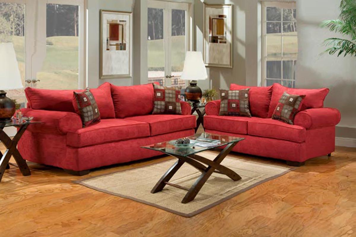 Fashionable Red Sofas Throughout Buy Red Fabric Sofa Set In Lagos Nigeria (View 14 of 15)