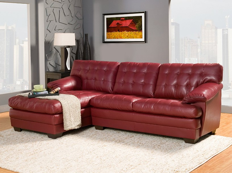 Fashionable Red Sofas With ⭐️ 7 Best Red Leather Sofa Reviews In 2017 ⋆ Best Cheap (View 11 of 15)