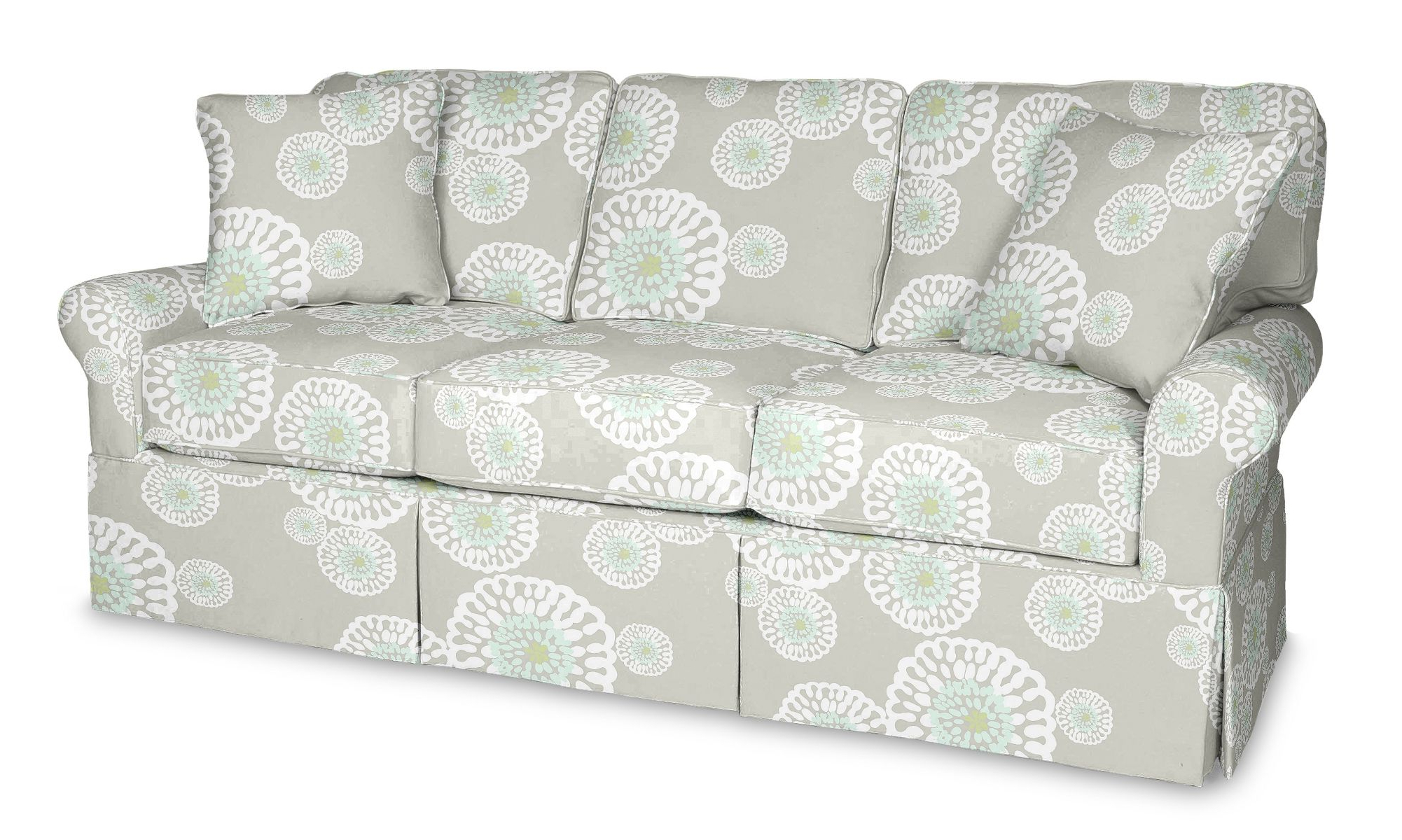 Fashionable Wilton Skirted Queen Sleeper Sofa (View 8 of 25)