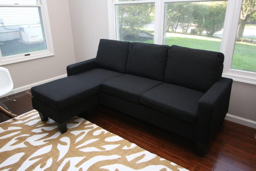 Favorite 13 Cheap Sectional Sofas Under $500 For 2020 With Regard To 2Pc Connel Modern Chaise Sectional Sofas Black (View 18 of 25)