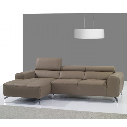 Favorite 2Pc Maddox Right Arm Facing Sectional Sofas With Cuddler Brown within J&M Furniture 625 Italian Leather Sectional Pumpkin In