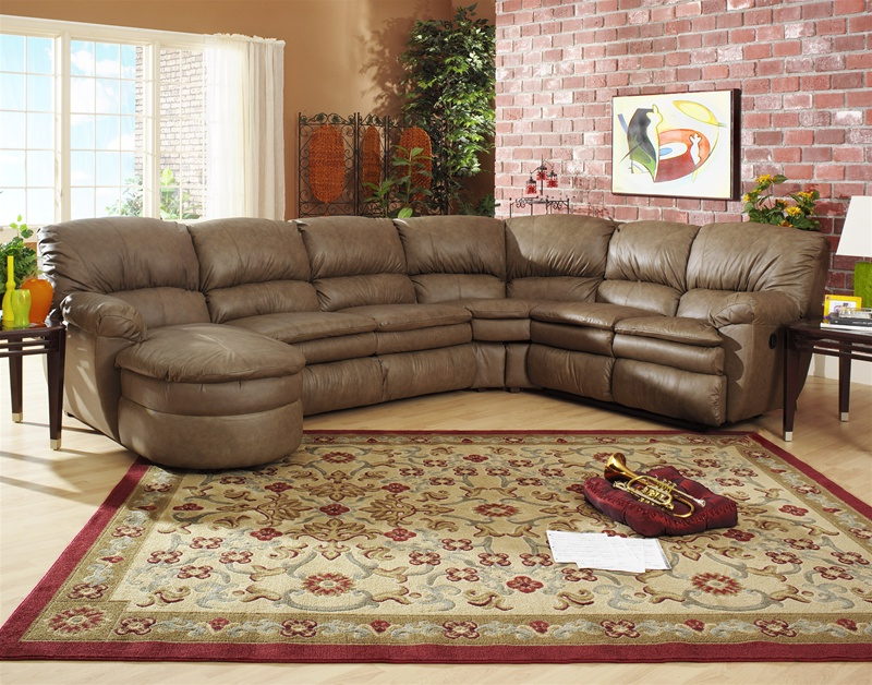 Favorite 3Pc Miles Leather Sectional Sofas With Chaise Inside Manhattan 3 Piece Chaise Sectional In Smoke Color Leather (View 14 of 25)