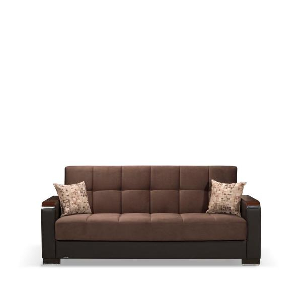 Favorite Celine Sectional Futon Sofas With Storage Camel Faux Leather Within Ottomanson Avalon 86 In (View 11 of 25)