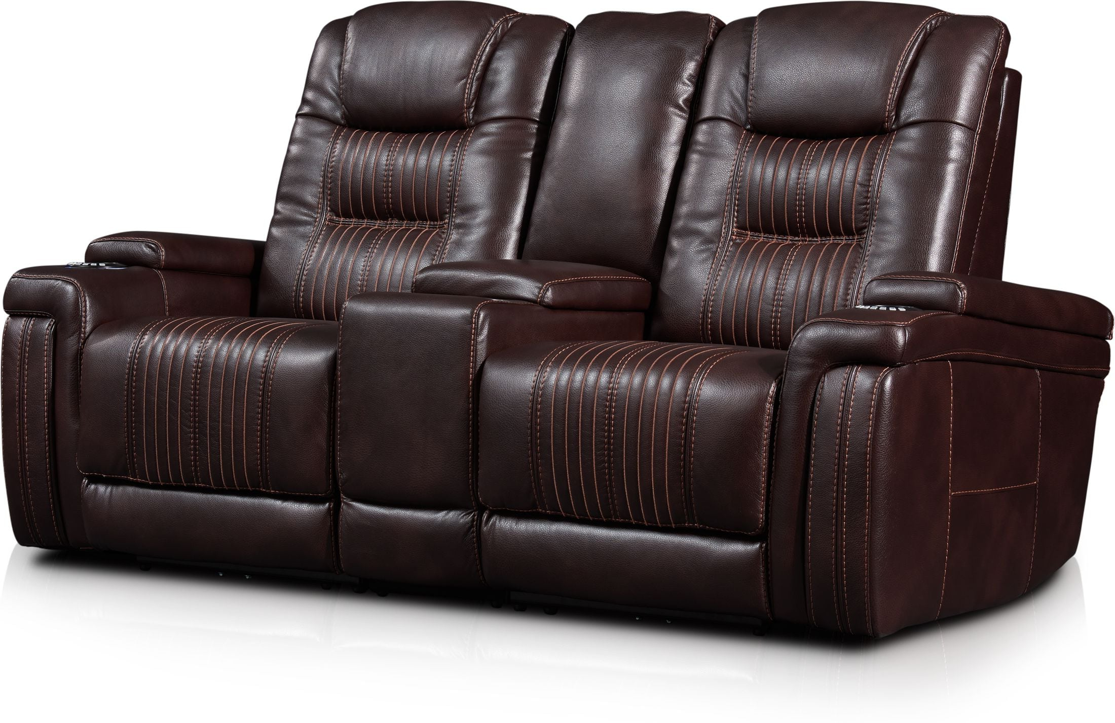 Favorite Charleston Triple Power Reclining Sofas Pertaining To Magnus 3 Piece Triple Power Reclining Sofa With Console (View 1 of 15)