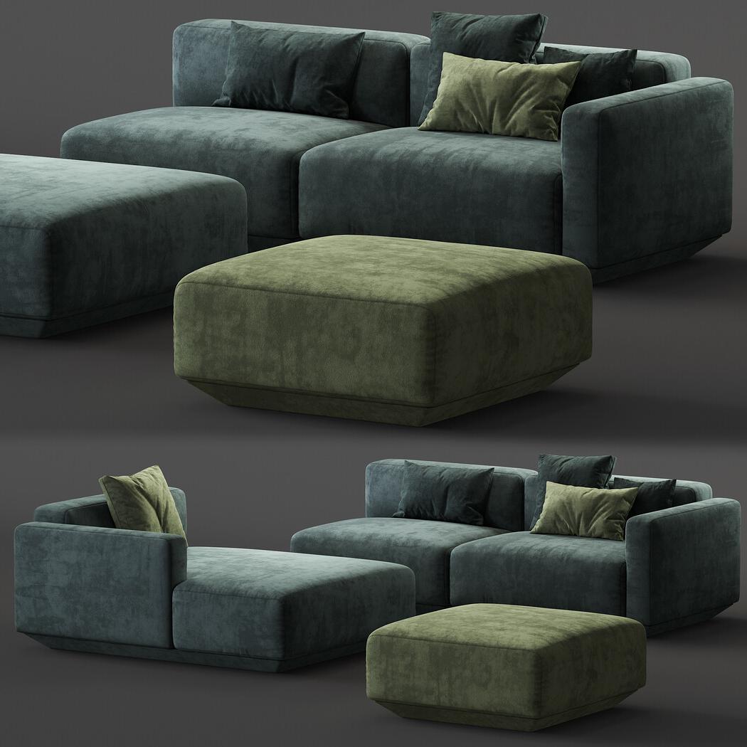 Favorite Develius Modular Sofa Inside Paul Modular Sectional Sofas Blue (View 6 of 25)