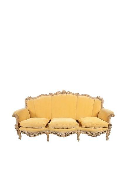Favorite French Chamois Sofa, Mustard/Tan (View 11 of 25)