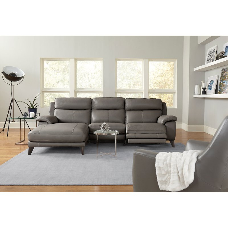 Favorite Leather Sofa And Chaise Signature Designashley Baskove Within 2Pc Maddox Right Arm Facing Sectional Sofas With Chaise Brown (View 19 of 25)