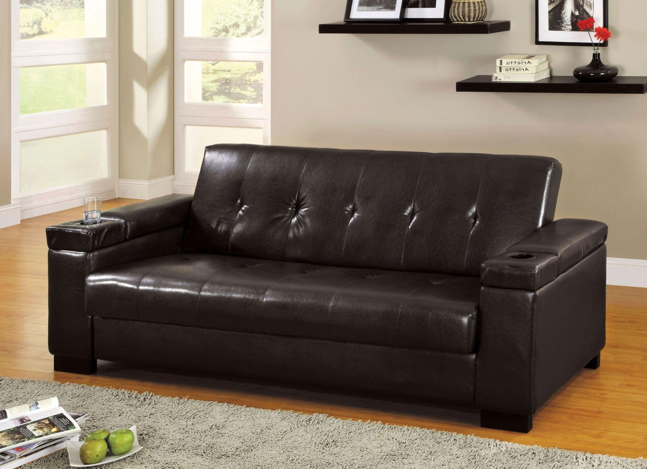 Favorite Logan Leatherette Futon Storage Sofa From Furniture Of Regarding Hartford Storage Sectional Futon Sofas (View 3 of 25)