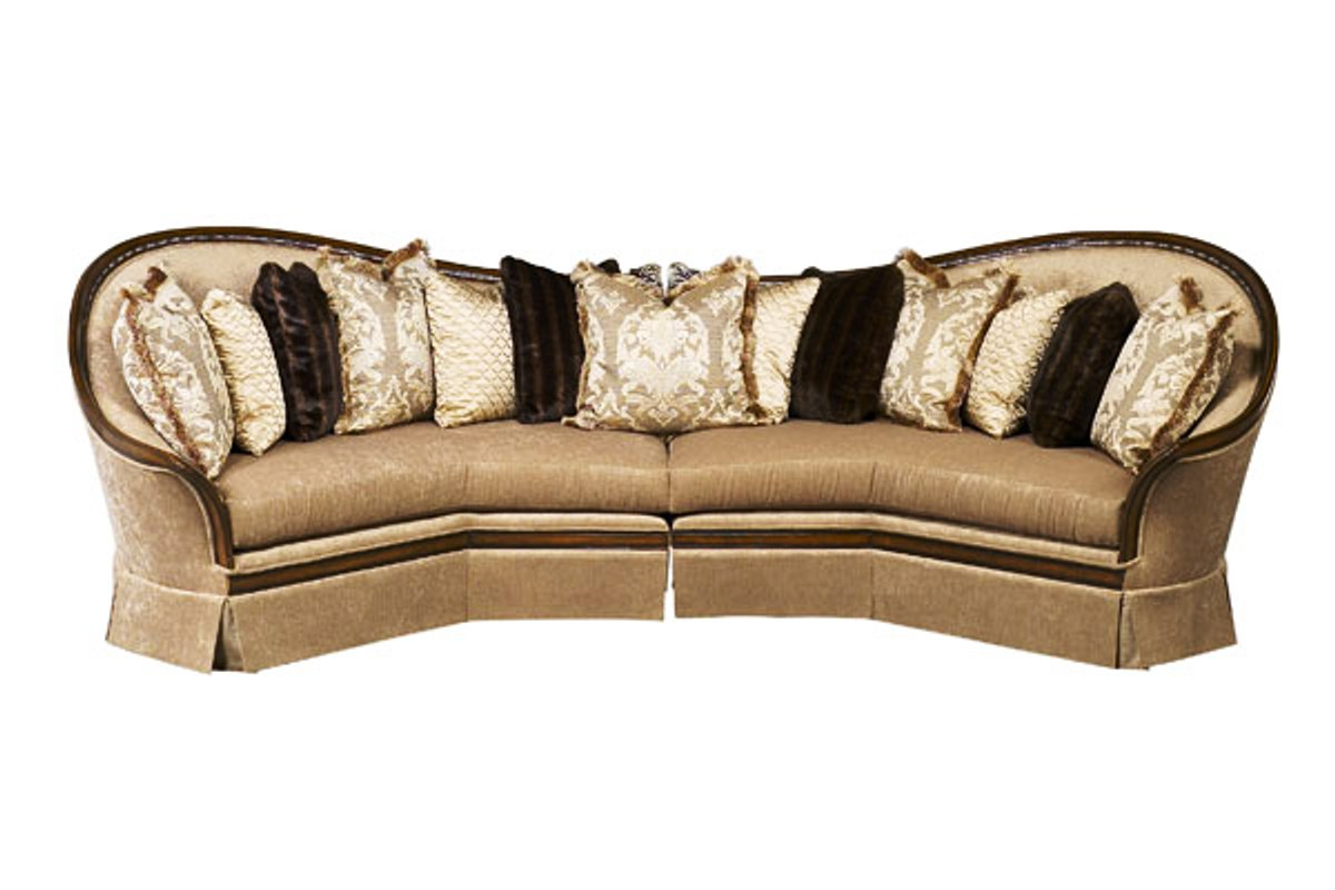 Favorite Luna Exposed Solid Wood Frame Sectional Sofa With Pillows With Luna Leather Sectional Sofas (View 10 of 25)