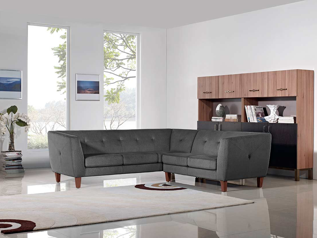 Favorite Modern Gray Fabric Sofa Ds Wave (View 16 of 25)