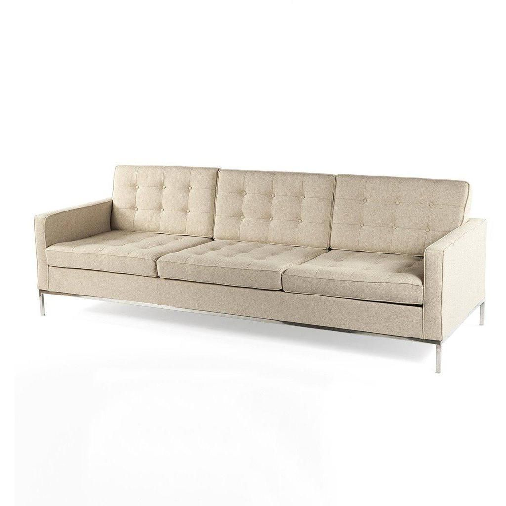 Florence Mid Century Modern Left Sectional Sofas Intended For Favorite Mid Century Modern Reproduction Mid Century Tufted Sofa (View 18 of 25)
