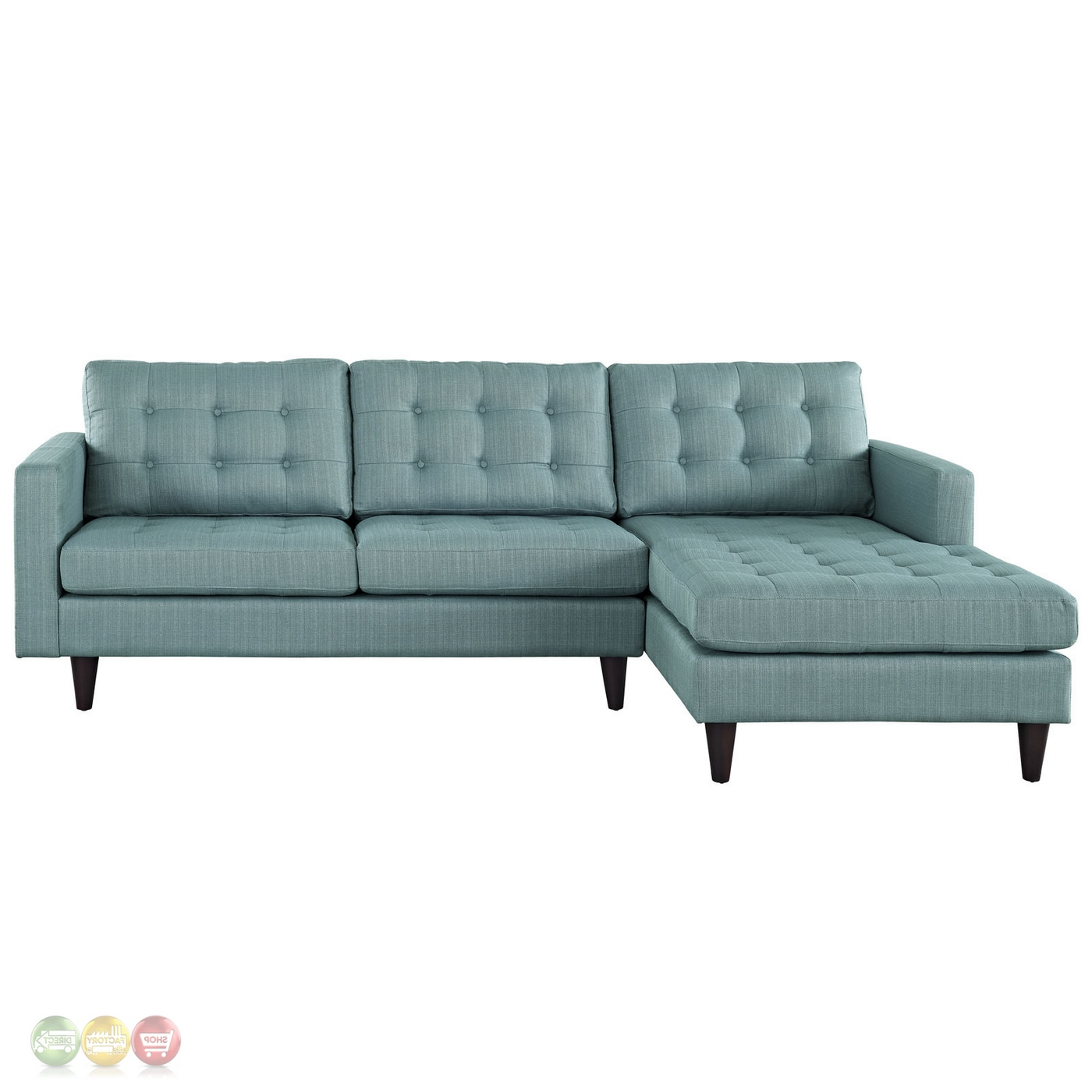 Florence Mid Century Modern Left Sectional Sofas Throughout Latest Mid Century Modern Empress Left Facing Button Tufted (View 6 of 25)