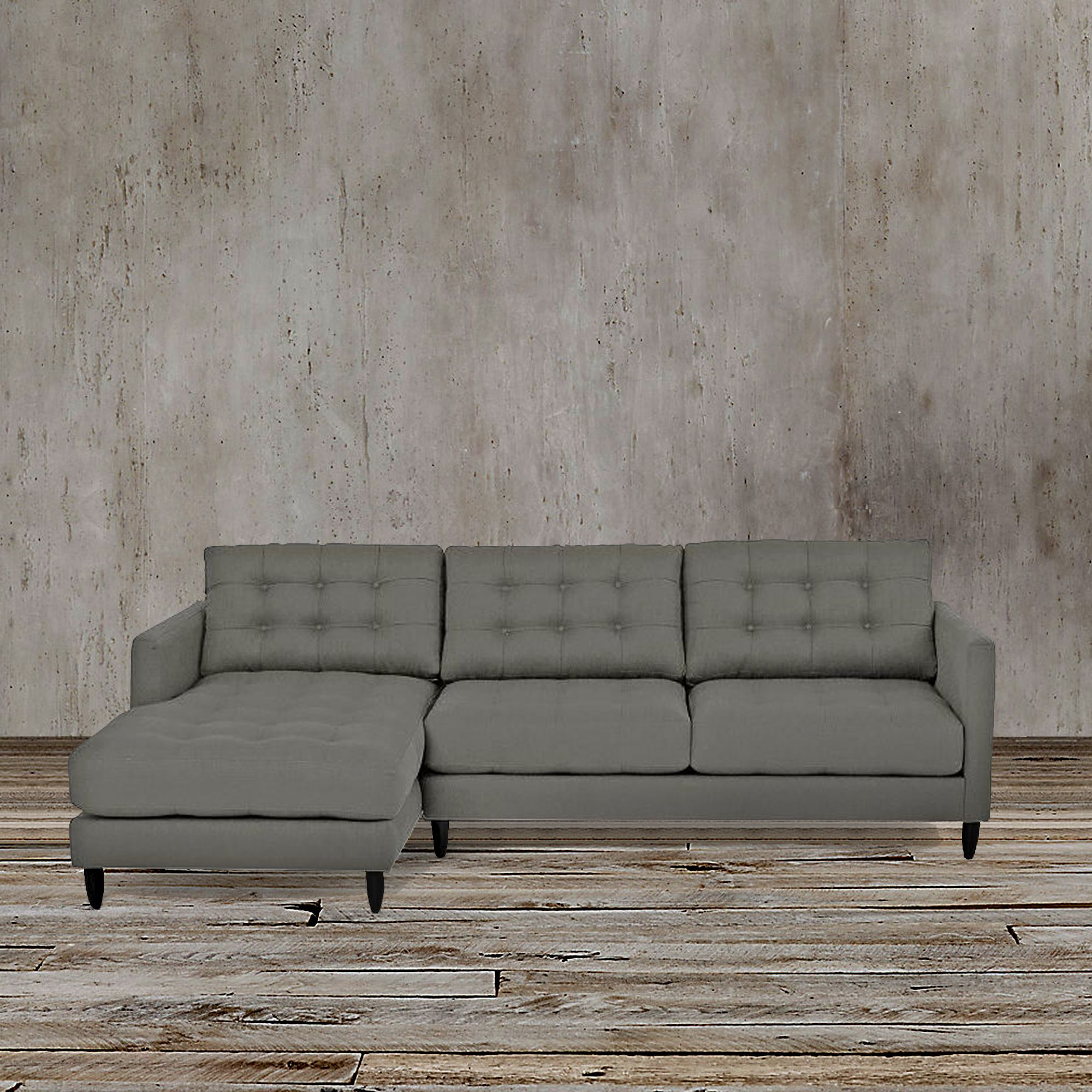Florence Mid Century Modern Left Sectional Sofas Throughout Most Current This Sleek And Functional Gray Left Arm Facing Sectional (View 4 of 25)