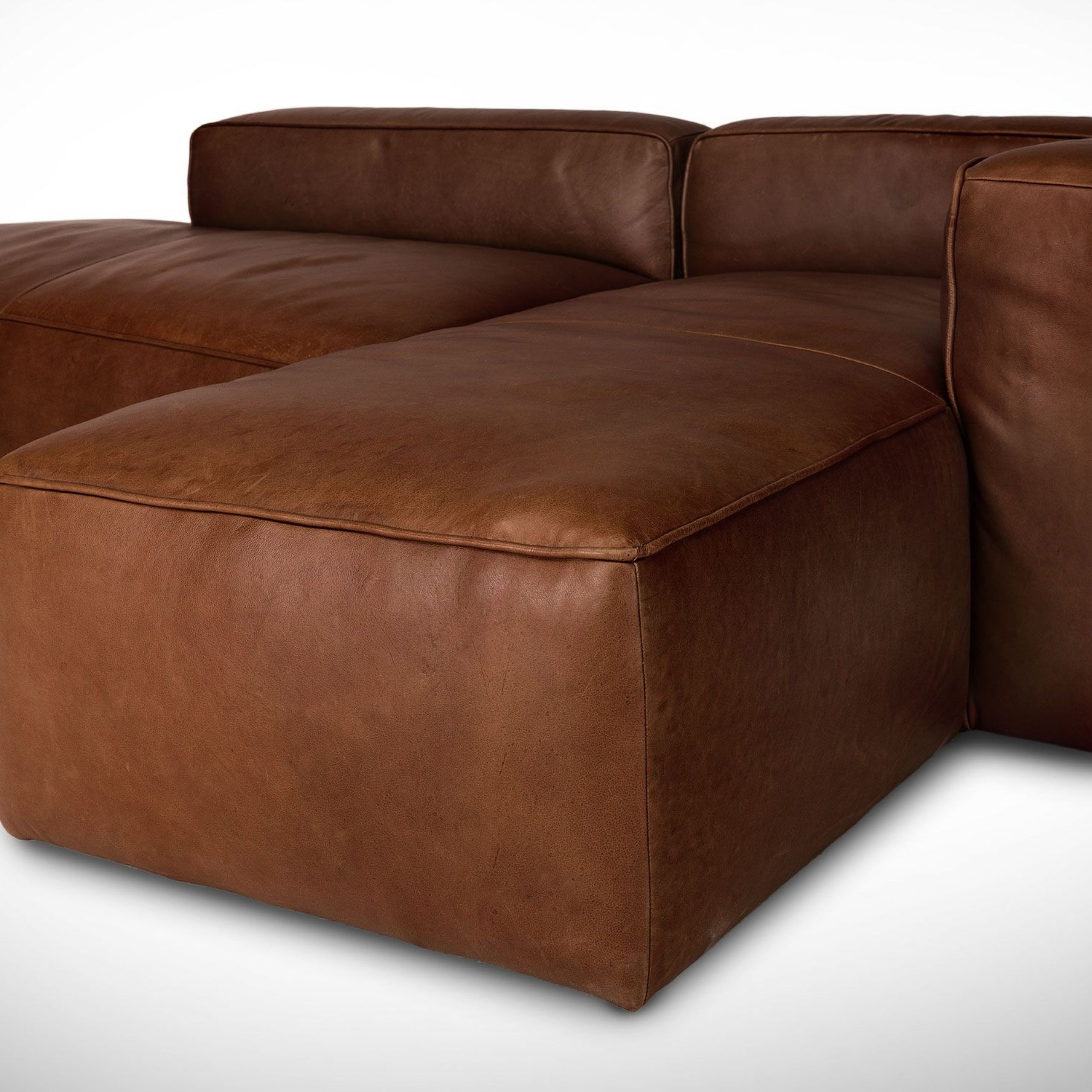 Florence Mid Century Modern Left Sectional Sofas Within Well Liked Mello Taos Brown Left Sectional – Sofas – Article (View 19 of 25)