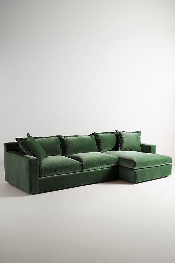 Florence Mid Century Modern Velvet Left Sectional Sofas Pertaining To Best And Newest Velvet Katina Left Sectional (View 15 of 25)