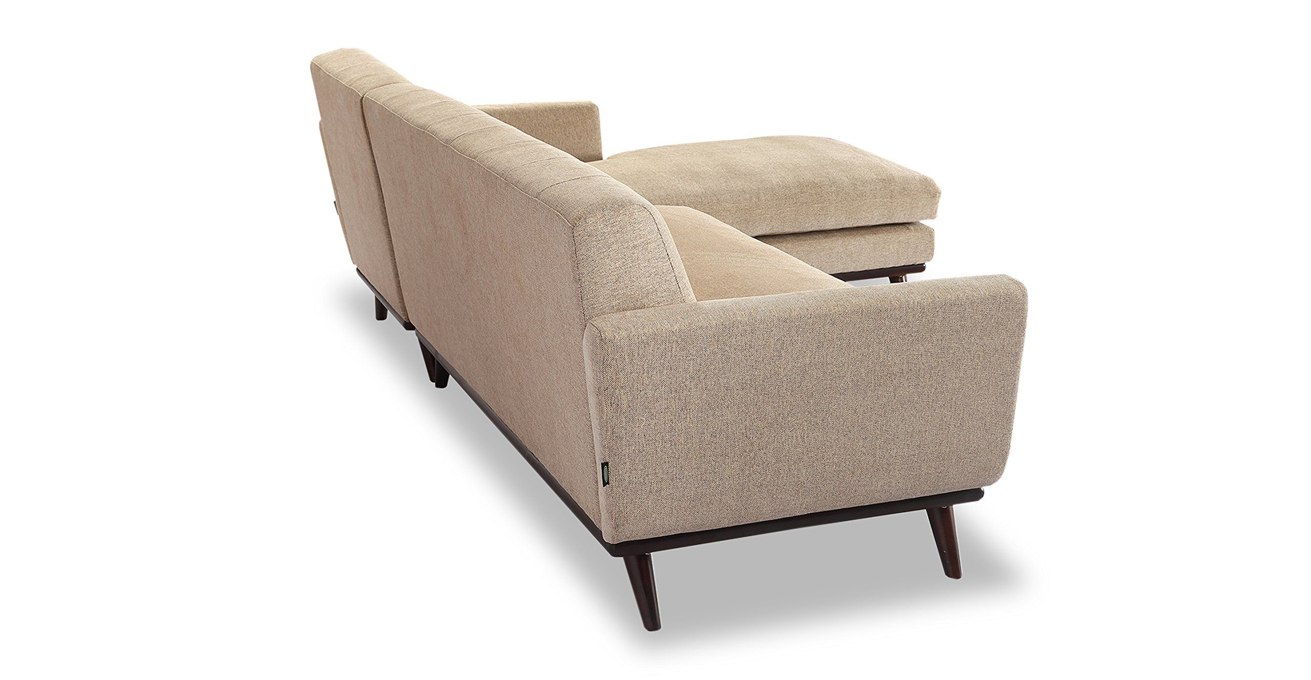 Florence Mid Century Modern Velvet Left Sectional Sofas With Regard To Most Recently Released Kardiel Jackie Midcentury Modern Sectional Sofa Left (View 18 of 25)