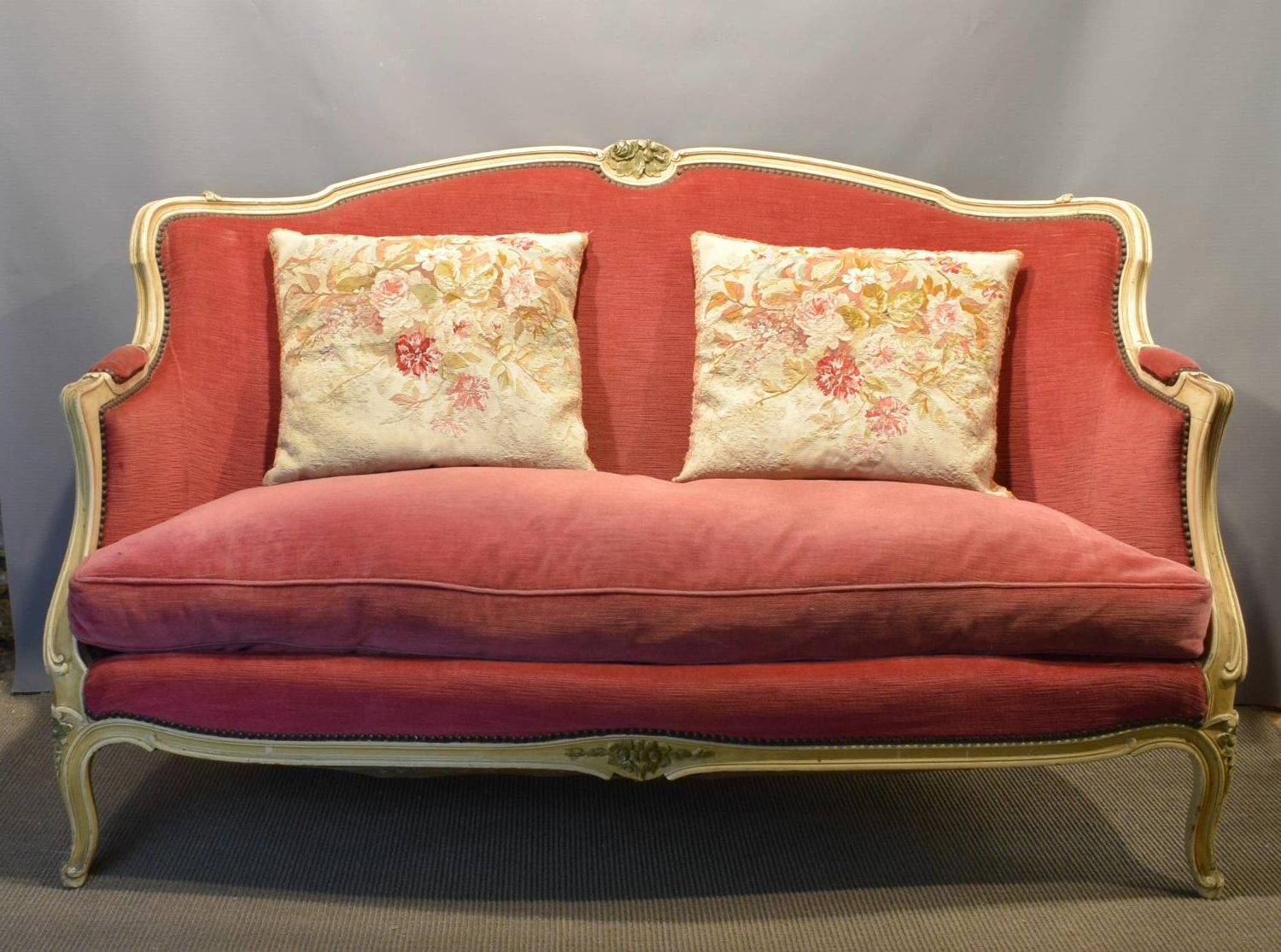French Seamed Sectional Sofas In Velvet Inside Widely Used Vintage French Pink Velvet Sofa In Louis Xv Style In Furniture (View 19 of 25)
