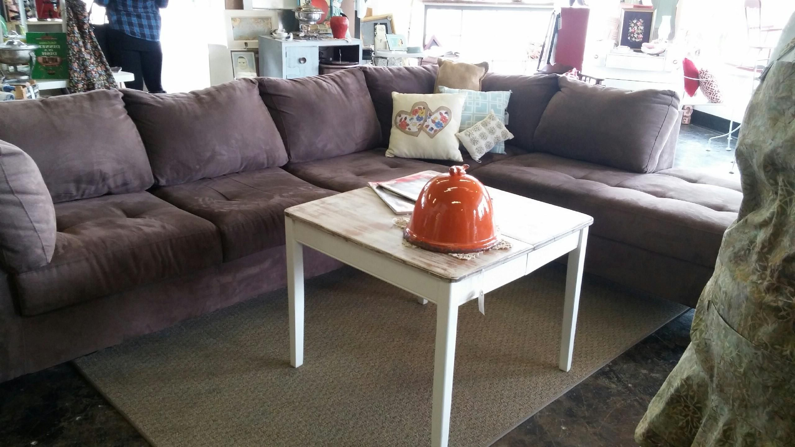 French Seamed Sectional Sofas Oblong Mustard With 2017 Pinmustard Seed Home Decor & More On Furniture (View 7 of 25)