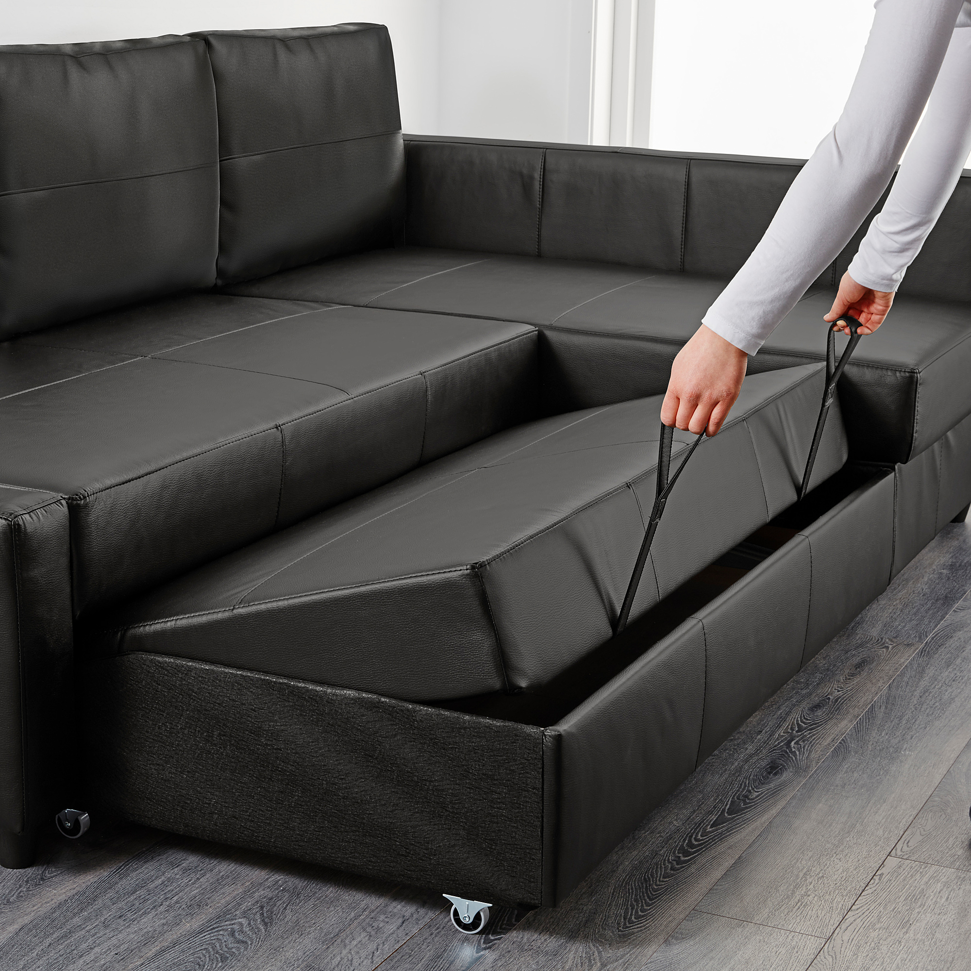 Friheten Corner Sofa Bed With Storage, Bomstad Black Inside Current Celine Sectional Futon Sofas With Storage Reclining Couch (View 17 of 25)
