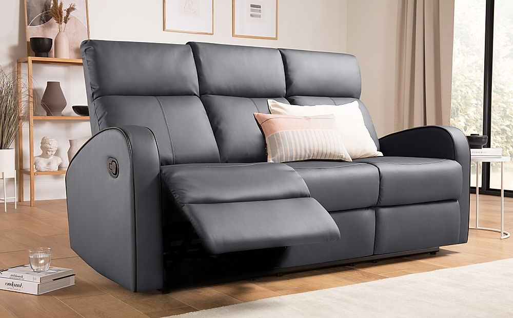 Furniture And Intended For Most Up To Date Gray Reclining Sofas (View 12 of 17)