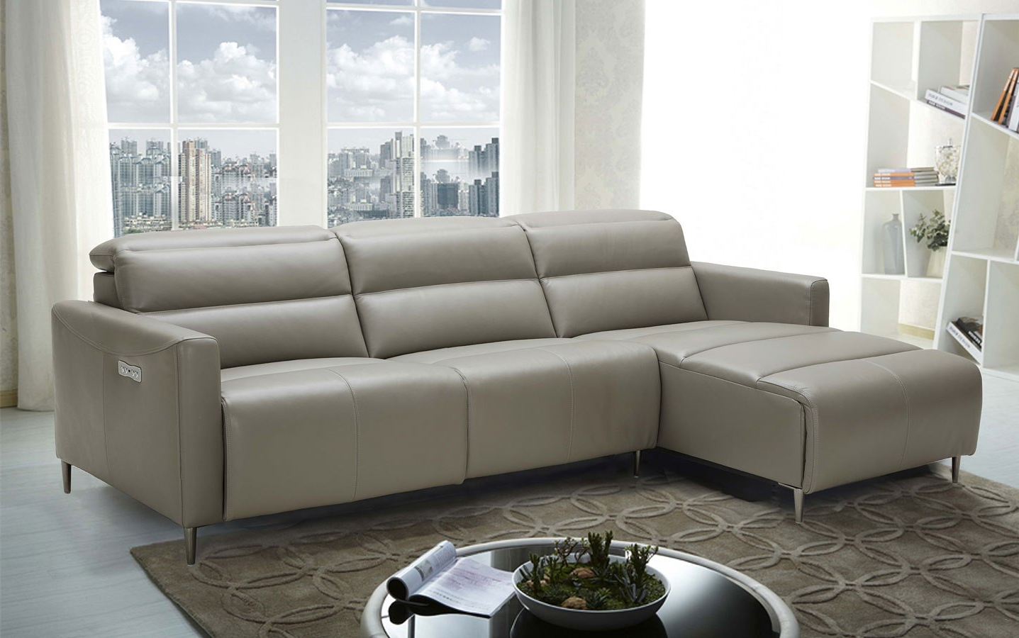 Furniture Cart In Copenhagen Reclining Sectional Sofas With Left Storage Chaise (View 6 of 25)