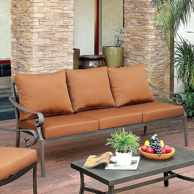 Furniture Of America Bonquesha 4Pc Outdoor Furniture Set For Latest 4Pc Beckett Contemporary Sectional Sofas And Ottoman Sets (View 11 of 25)